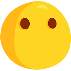 Face Without Mouth Emoji in Messenger