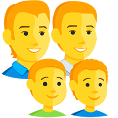 Family: Man, Man, Boy, Boy Emoji in Messenger