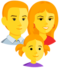 Family: Man, Woman, Girl Emoji in Messenger