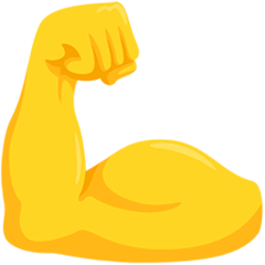Flexed Biceps Emoji in Messenger