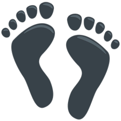 Footprints Emoji in Messenger