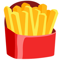 French Fries Emoji in Messenger