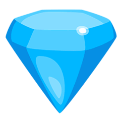 Gem Stone Emoji in Messenger