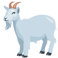 Goat Emoji in Messenger