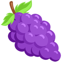 Grapes Emoji in Messenger