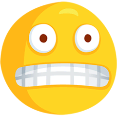 Grimacing Face Emoji in Messenger
