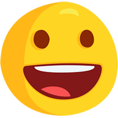 Grinning Face Emoji in Messenger
