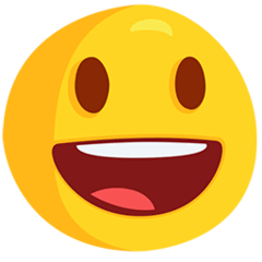 Grinning Face With Big Eyes Emoji in Messenger