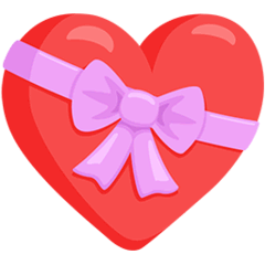 Heart With Ribbon Emoji in Messenger