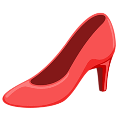 High-heeled Shoe Emoji in Messenger