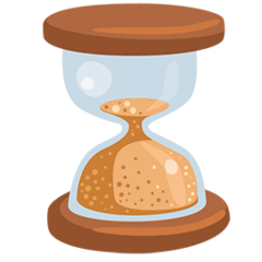 Hourglass Done Emoji in Messenger
