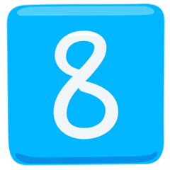 Keycap: 8 Emoji in Messenger