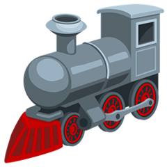 Locomotive Emoji in Messenger