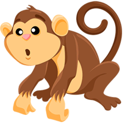 Monkey Emoji in Messenger