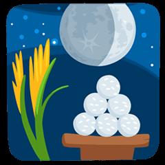 Moon Viewing Ceremony Emoji in Messenger