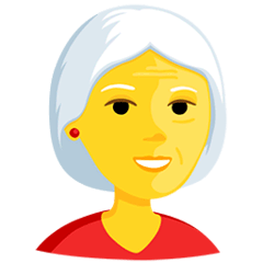 Old Woman Emoji in Messenger