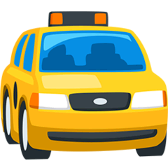 Oncoming Taxi Emoji in Messenger