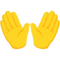 Open Hands Emoji in Messenger