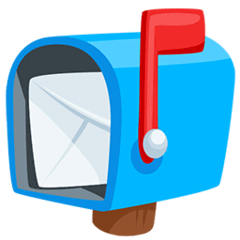 Open Mailbox With Raised Flag Emoji in Messenger