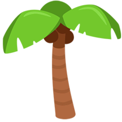 Palm Tree Emoji in Messenger