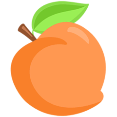 Peach Emoji in Messenger