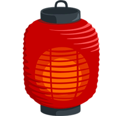 Red Paper Lantern Emoji in Messenger
