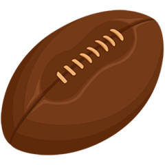 Rugby Football Emoji in Messenger