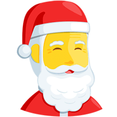 Santa Claus Emoji in Messenger