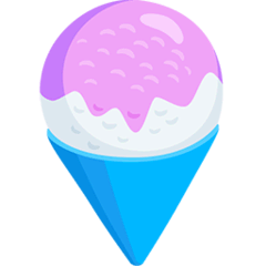 Shaved Ice Emoji in Messenger