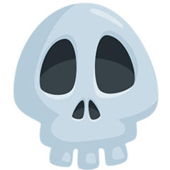Skull Emoji in Messenger