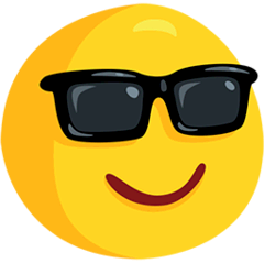 Smiling Face With Sunglasses Emoji in Messenger