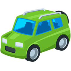 Sport Utility Vehicle Emoji in Messenger