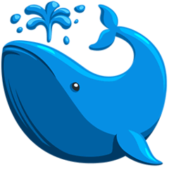 Spouting Whale Emoji in Messenger