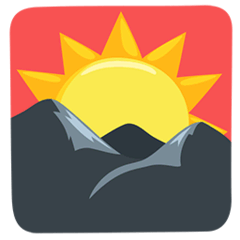 Sunrise Over Mountains Emoji in Messenger