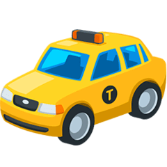 Taxi Emoji in Messenger