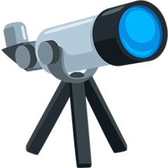 Telescope Emoji in Messenger