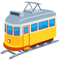 Tram Car Emoji in Messenger