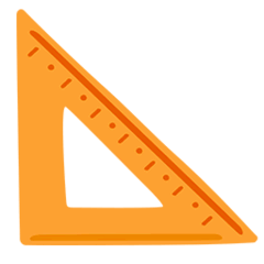 Triangular Ruler Emoji in Messenger