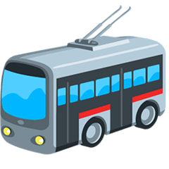 Trolleybus Emoji in Messenger