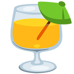 Tropical Drink Emoji in Messenger