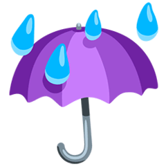 Umbrella With Rain Drops Emoji in Messenger