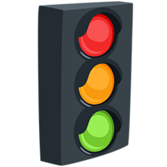 Vertical Traffic Light Emoji in Messenger