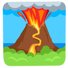 Volcano Emoji in Messenger