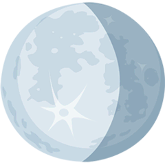 Waning Gibbous Moon Emoji in Messenger