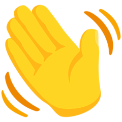Waving Hand Emoji in Messenger