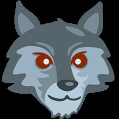 Wolf Emoji in Messenger