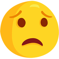 Worried Face Emoji in Messenger