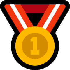 1st Place Medal Emoji on Windows