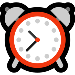 Alarm Clock Emoji on Windows