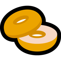 Bagel Emoji on Windows